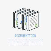 Documentation isometric illustration