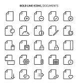 Documents, bold line icons.
