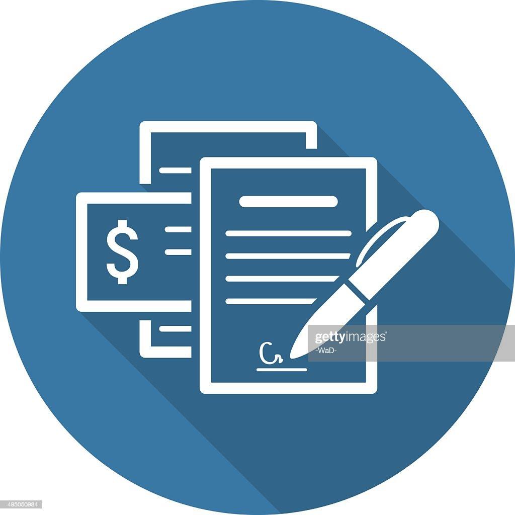 Documents  Icon. Flat Design.
