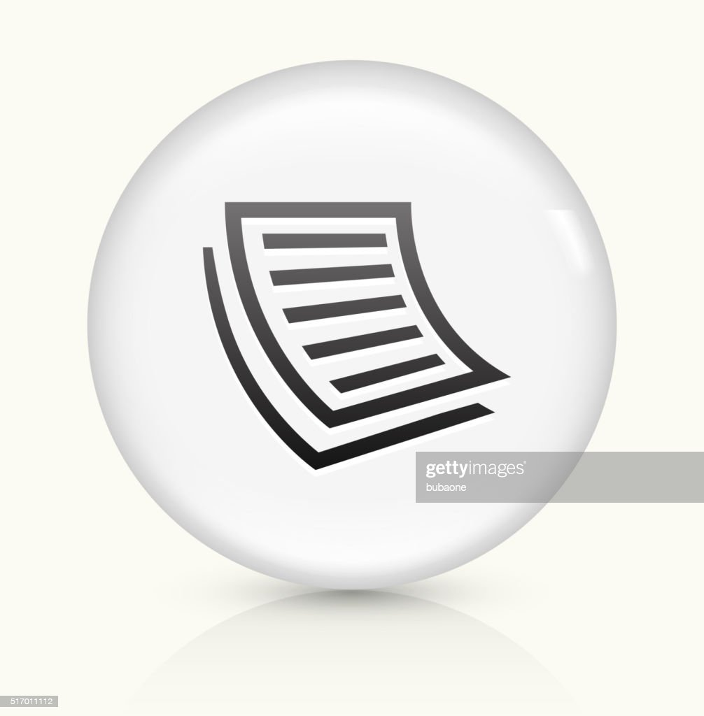 Documents icon on white round vector button