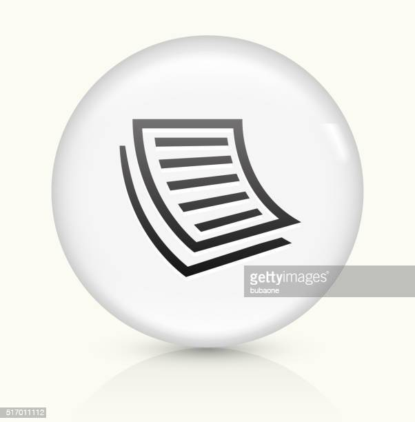 documents icon on white round vector button - photocopier stock illustrations, clip art, cartoons, & icons