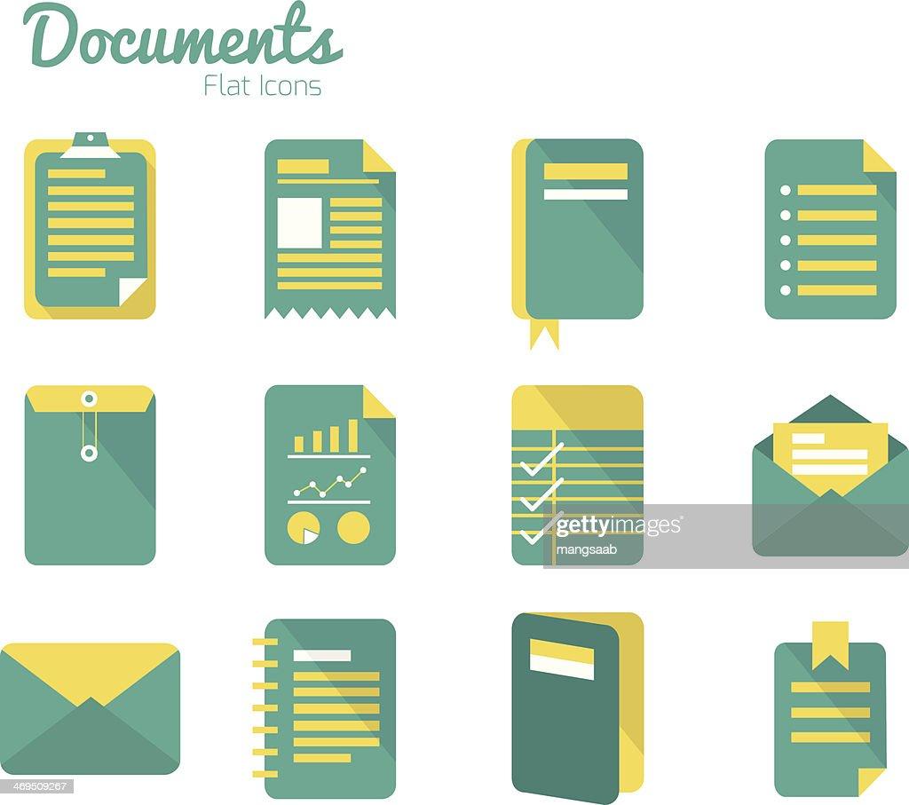 Documents icon set.
