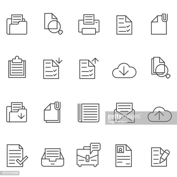 documents icon set - plus sign stock illustrations, clip art, cartoons, & icons