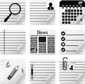 Documents vector icon set