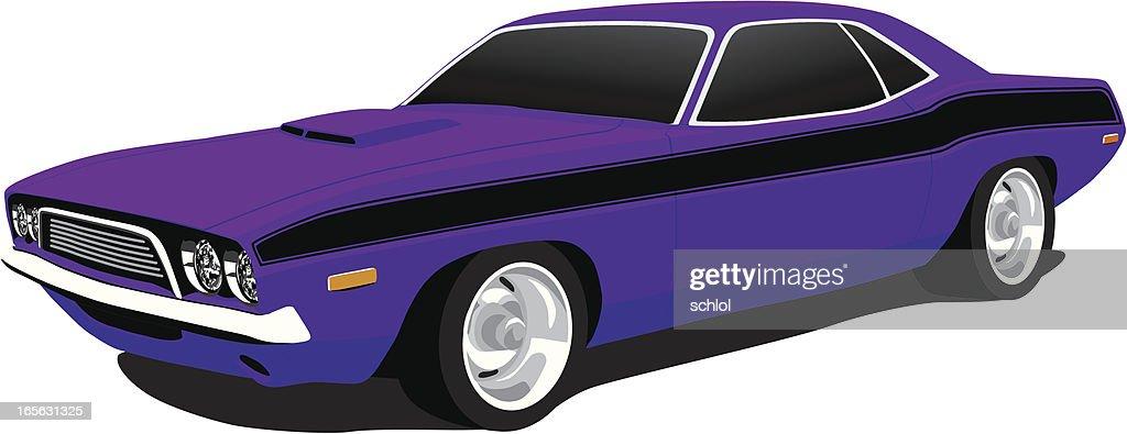 Dodge Challenger from 1973 : stock illustration