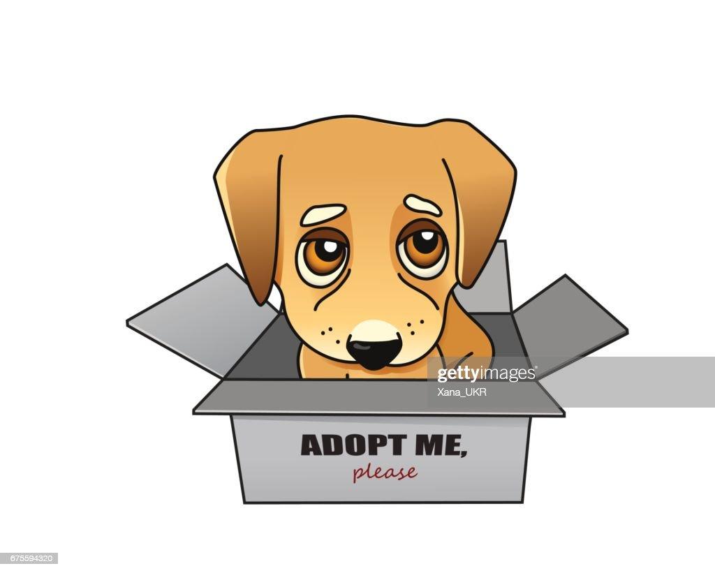 Dog adoption vector concept