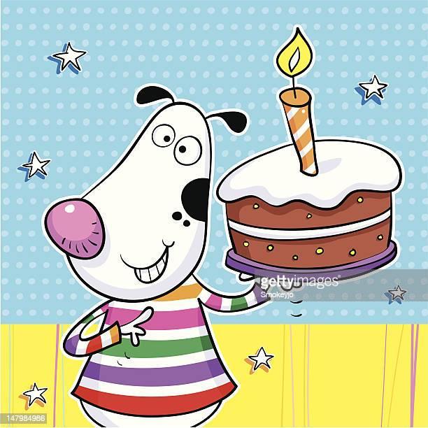 Hund und Kuchen