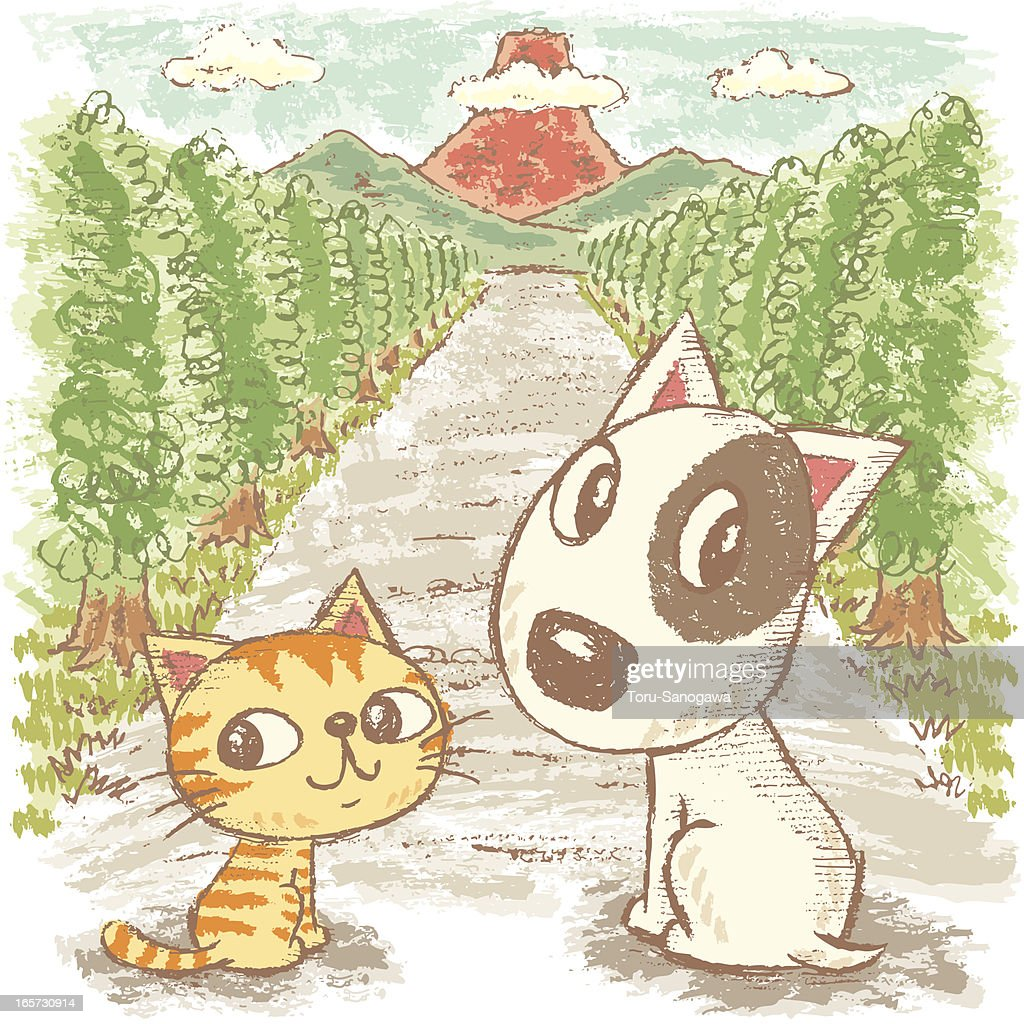 Dog and Cat go to the mountain
