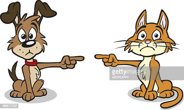Dog and Cat in Trouble