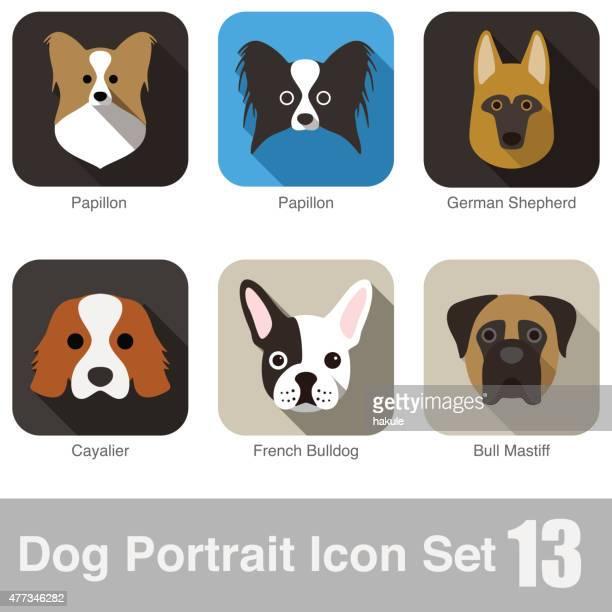 Hund, Tier Gesicht Zeichen Symbol-Serie