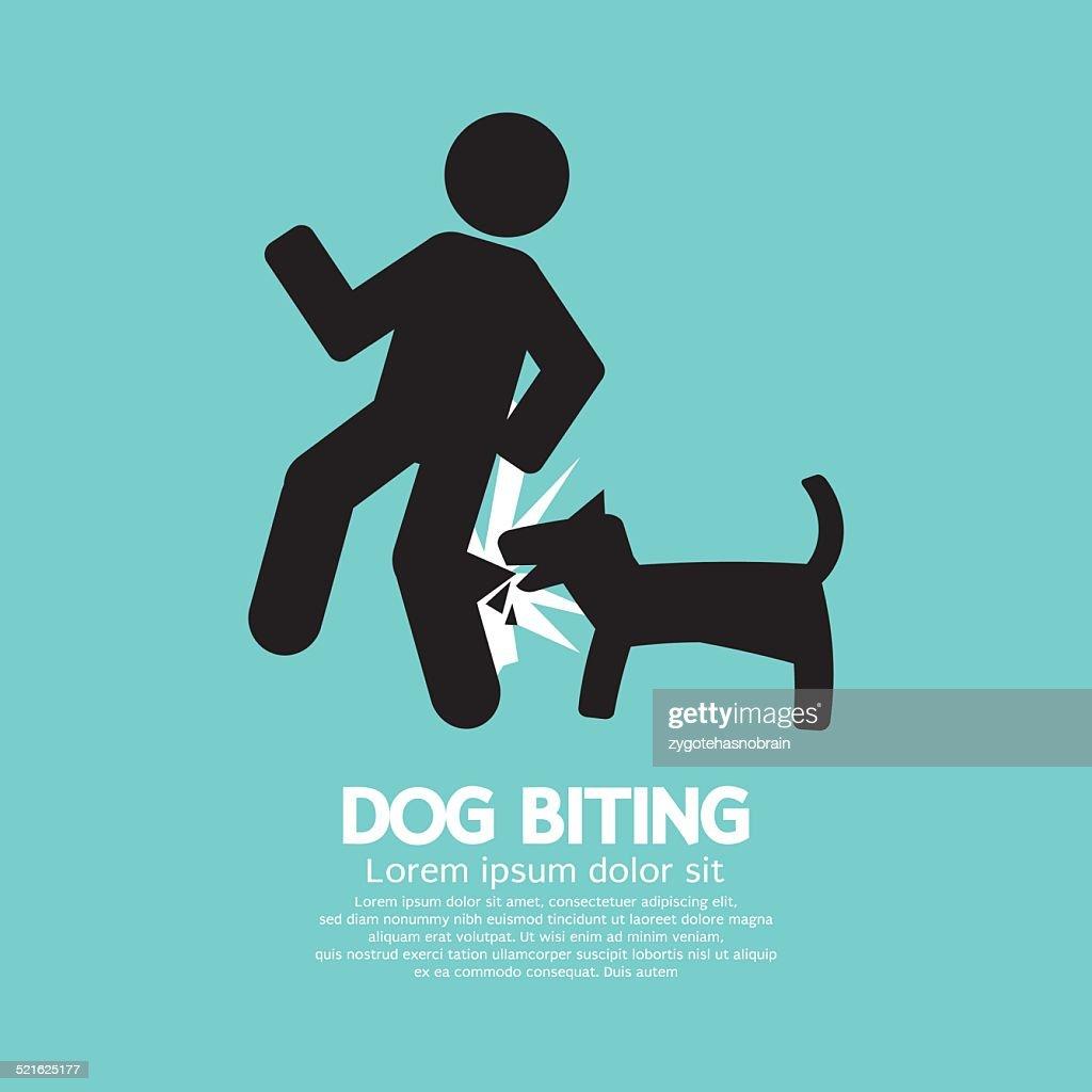 Dog Biting Symbol Vector Illustration