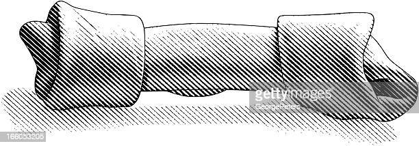 dog bone - dog bone stock illustrations