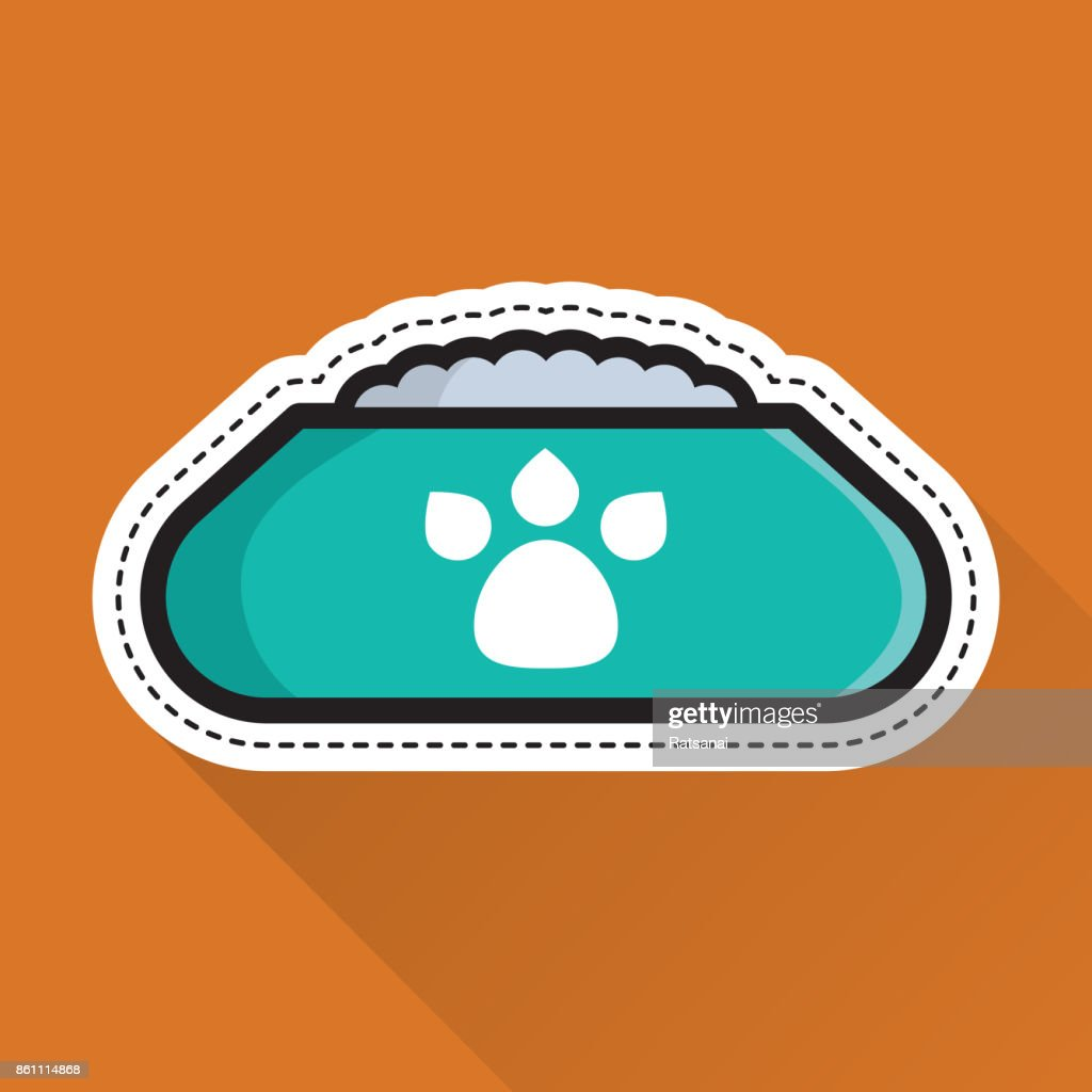 Dog bowl icon : stock illustration