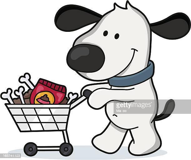 dog buys food / Cartoon