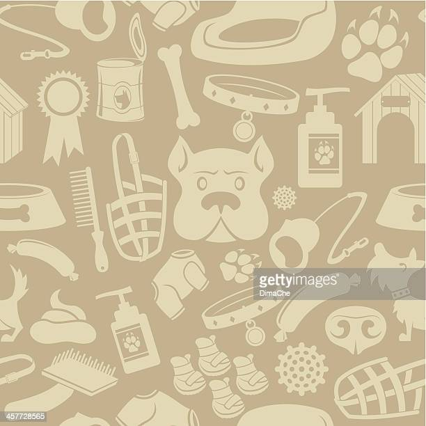 Dog care Seamless background