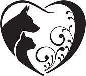Dog Cat Heart icon