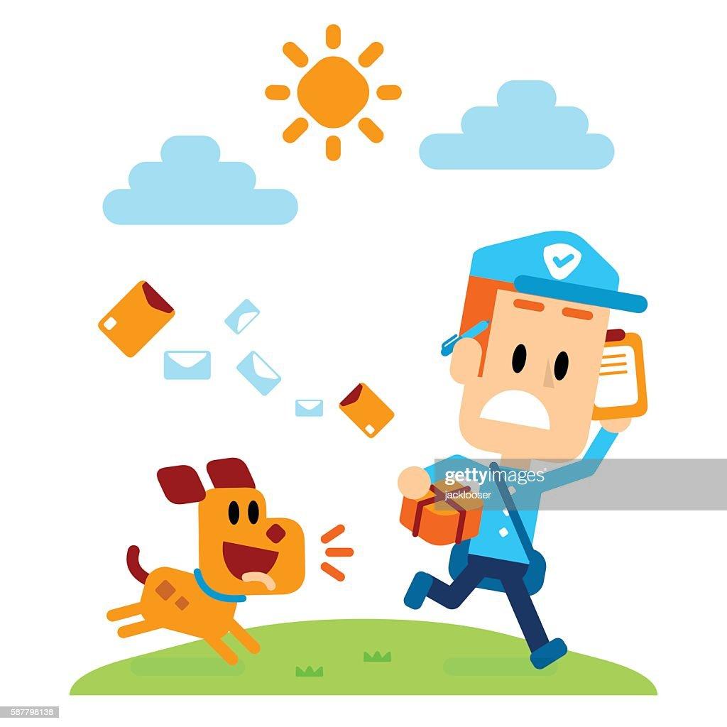 Dog Chasing A Mailman