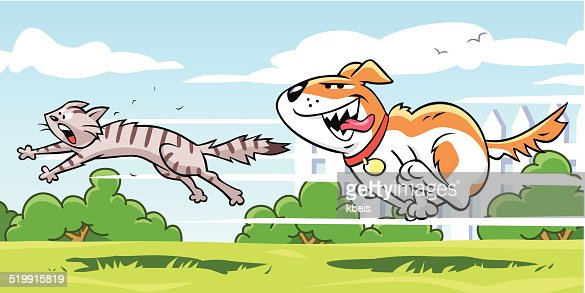 Dog And Cat Fighting Clipart