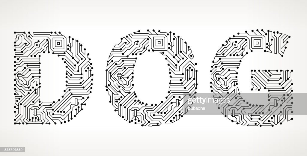 Dog Circuit Board Vector Buttons Vector Art | Getty Images