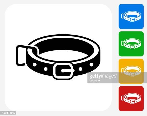 dog collar icon flat graphic design - collar stock illustrations