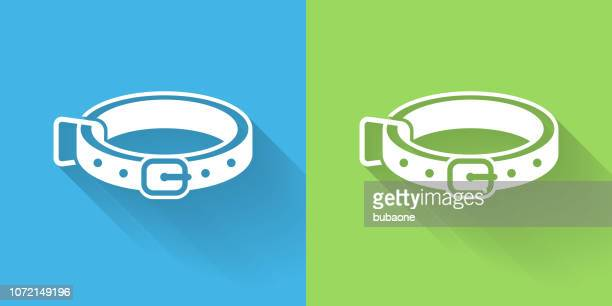 Dog Collar Icon with Long Shadow