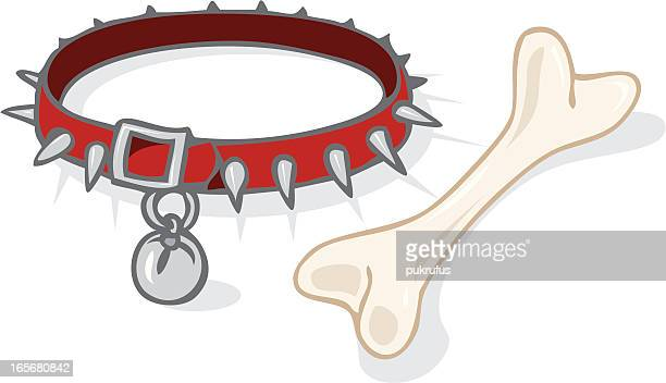 dog collar - spiked stock illustrations, clip art, cartoons, & icons