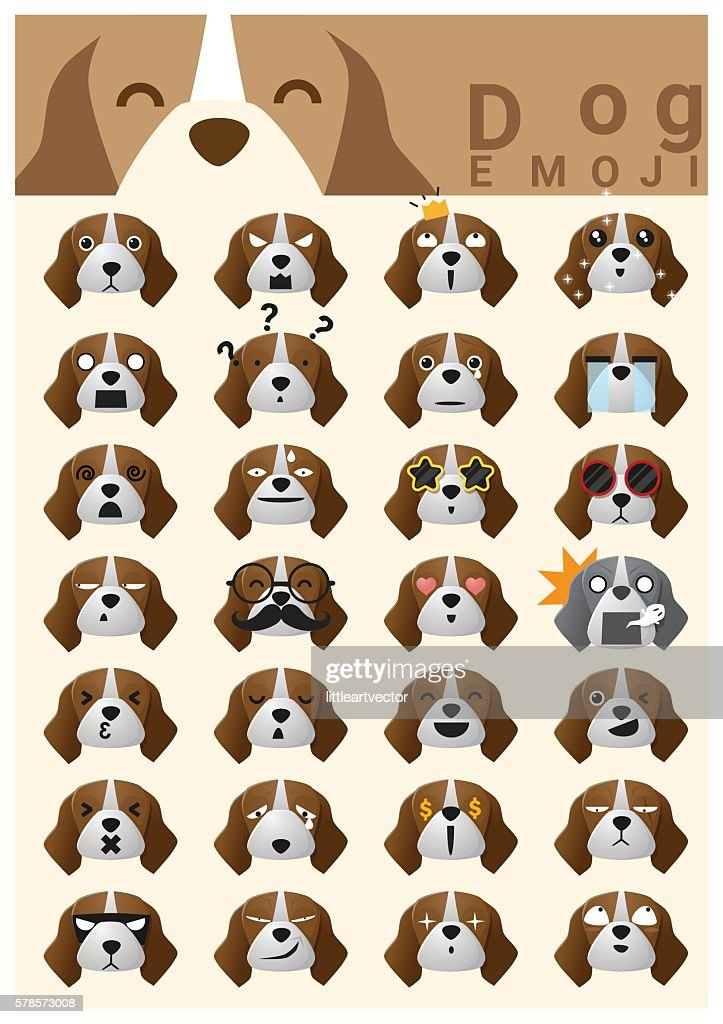 Dog emoji icons 2