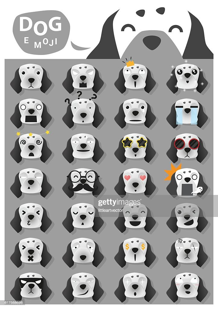 Dog emoji icons 3