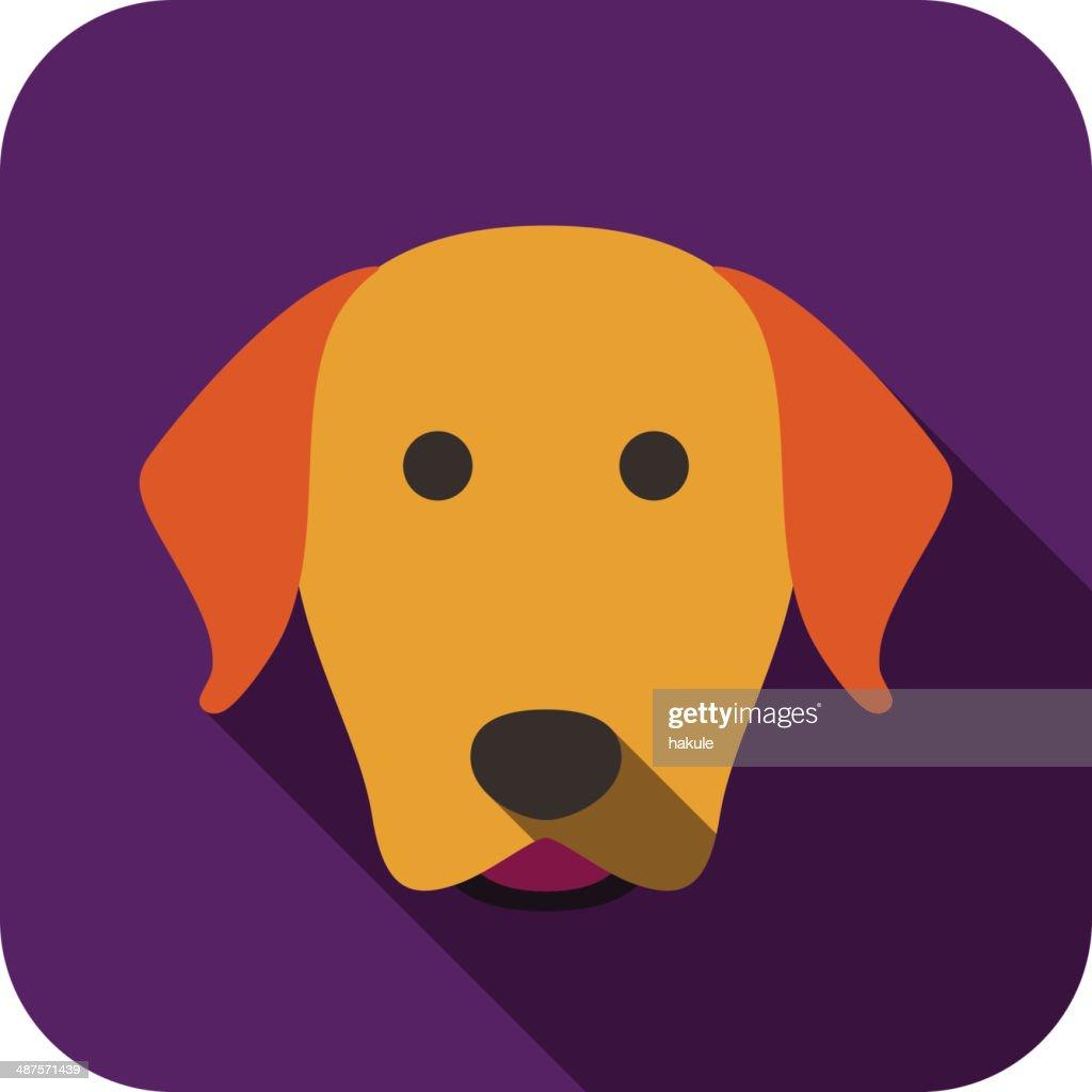 Dog Face Flat Design Golden Retriever Labrador High Res