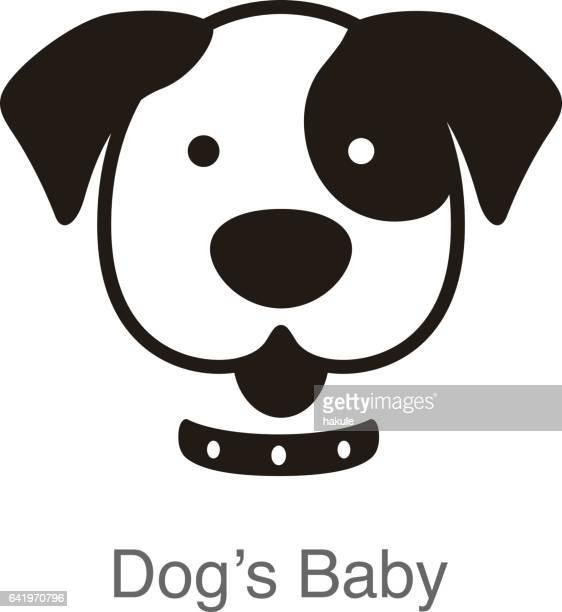 hund ansikte, framifrån vektor
