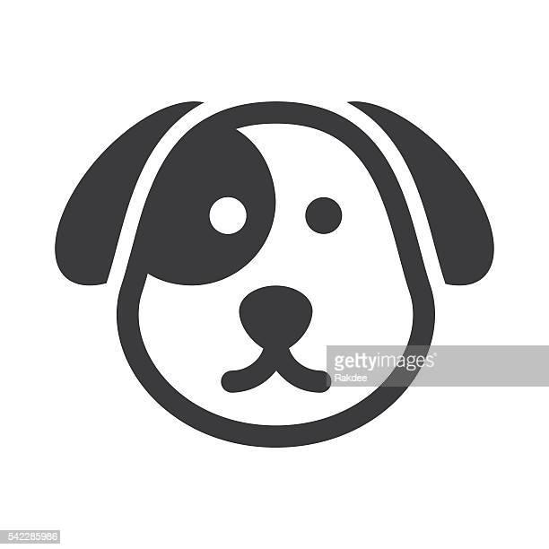 dog face icon - animal head stock illustrations