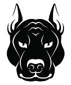 Dog face symbol