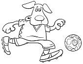 dog football player character coloring book