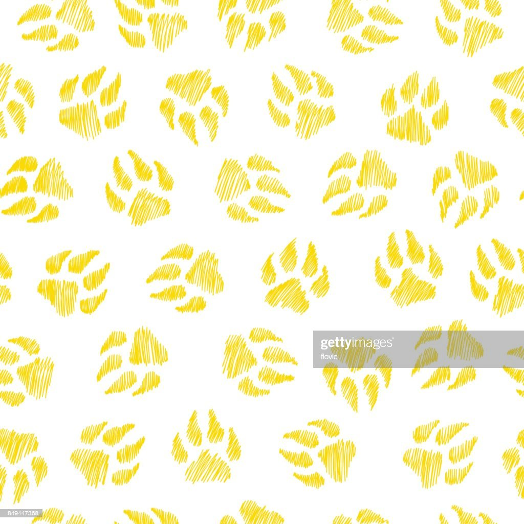 Dog footprint - seamless pattern.