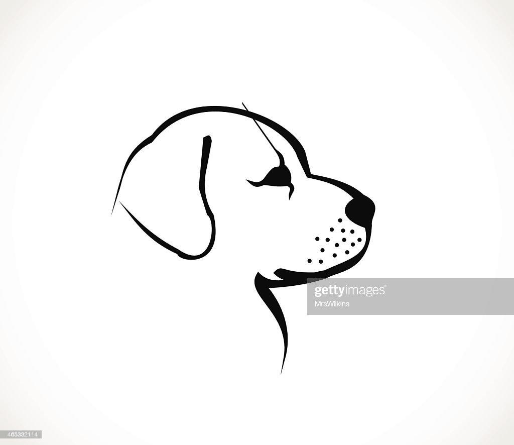 Dog head profile icon vector