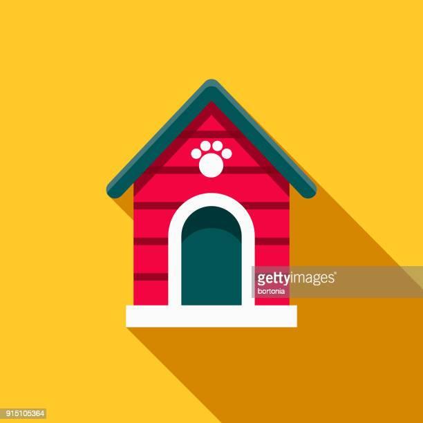 Tierbetreuung Haussymbol flaches Design Hund