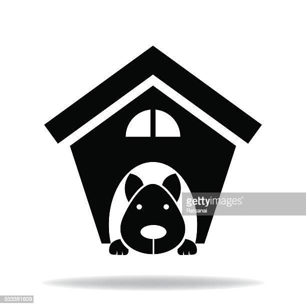 ilustraciones, imágenes clip art, dibujos animados e iconos de stock de perro house - caseta de perro