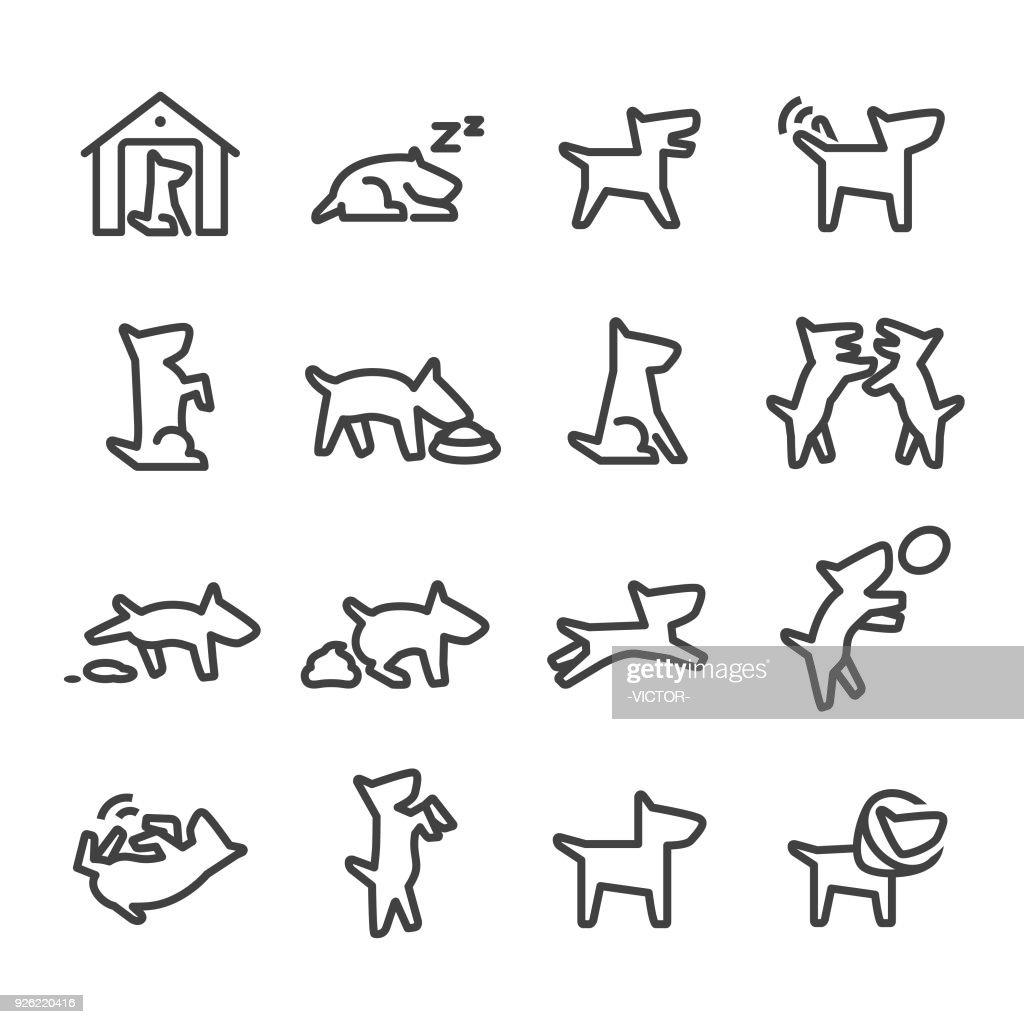 Dog Icons - Line Series