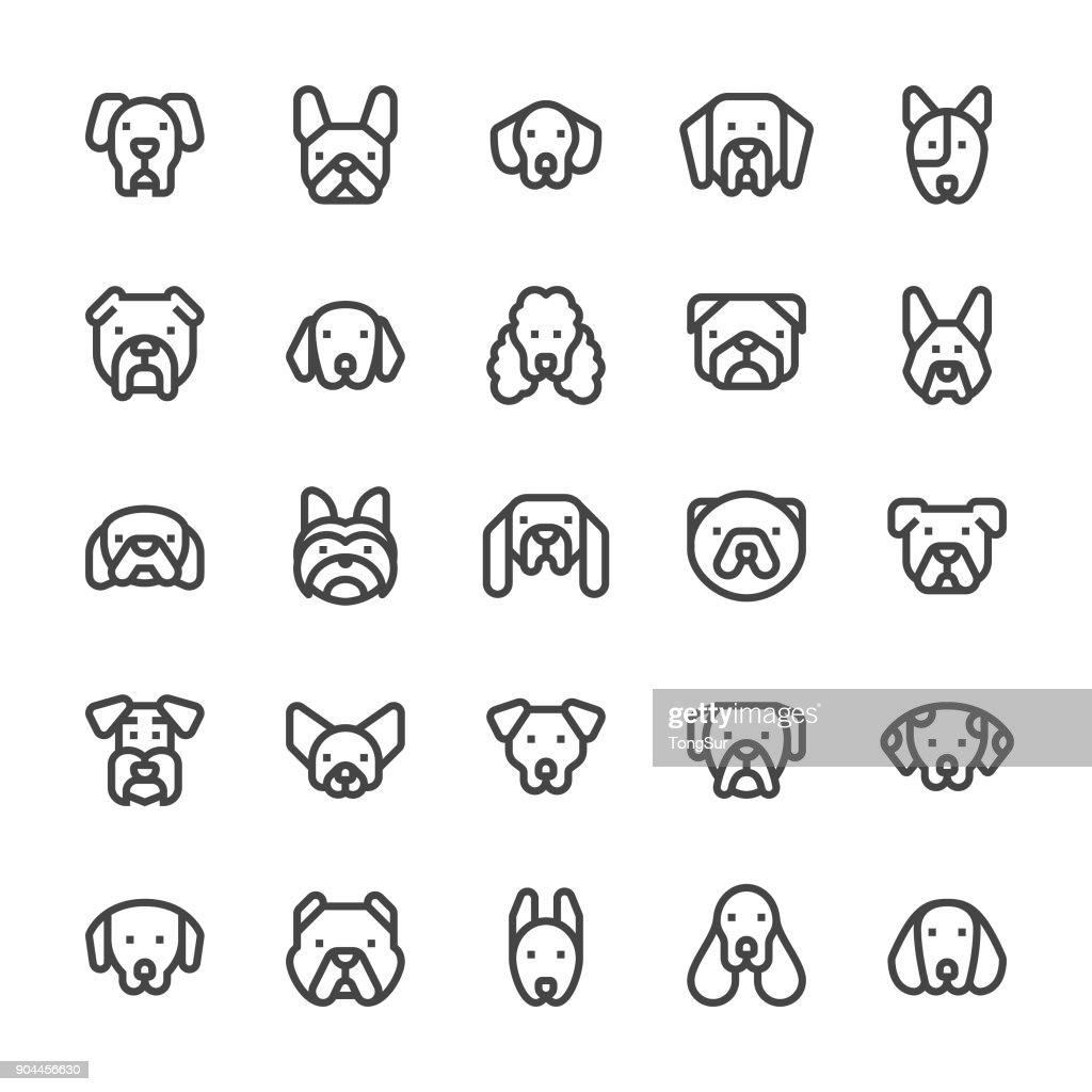 Dog Icons - MediumX Line