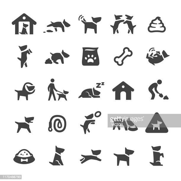 dog icons - smart series - dog bone stock illustrations