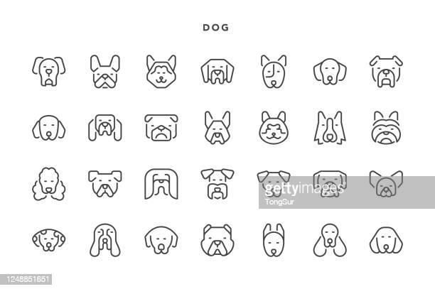 dog icons - dog breeds stock illustrations