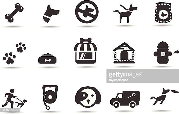 dog icons - clip art stock illustrations, clip art, cartoons, & icons