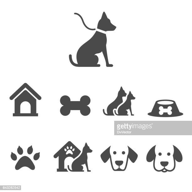 dog icons - dog bowl stock illustrations, clip art, cartoons, & icons