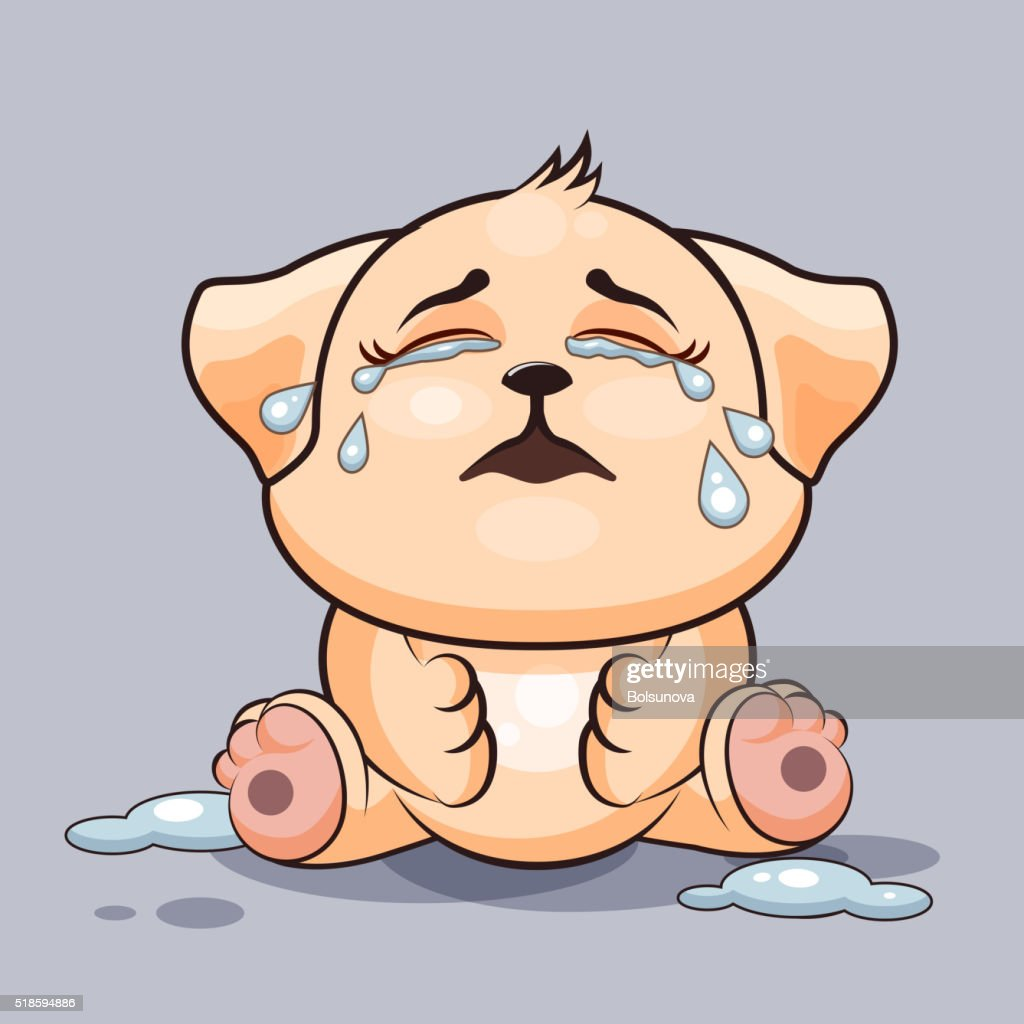 Dog is crying