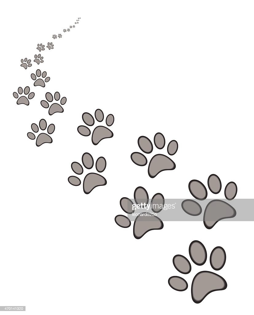 dog or cat paw print