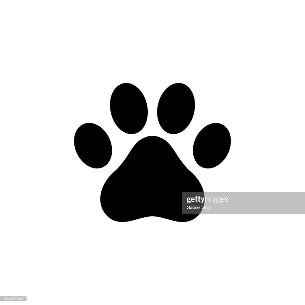 Dog paw icon logo