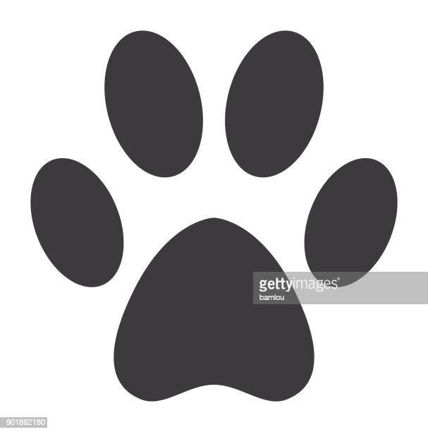 dog paw icon - dog stock illustrations