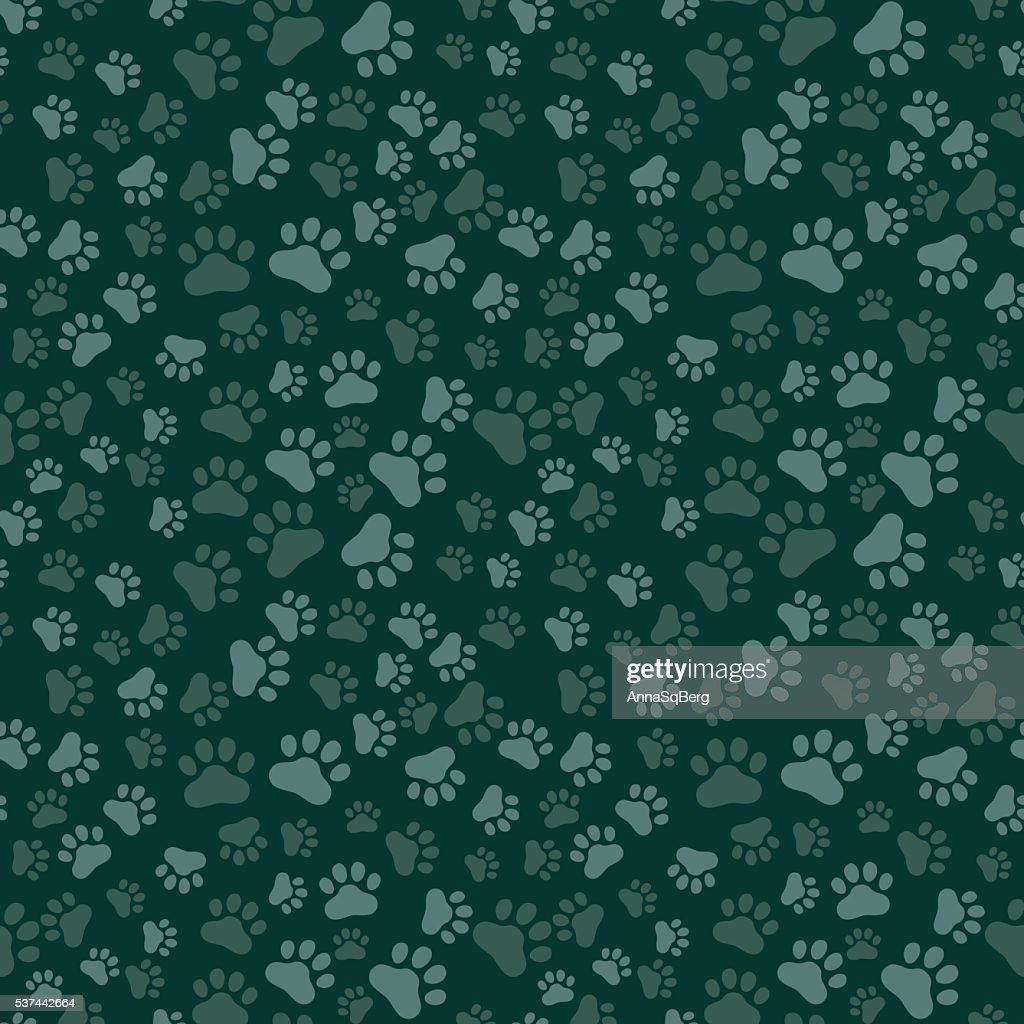 Dog Paw Print Seamless, anilams pattern, vector illustration
