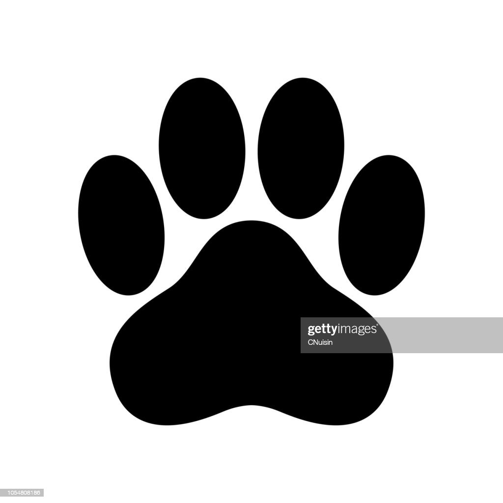 dog paw vector icon logo footprint cat bear cartoon illustration clip art french bulldog