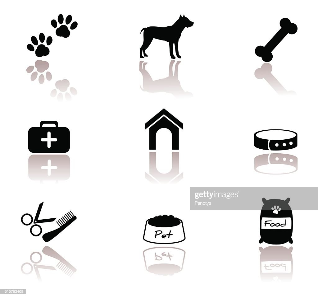Dog, pet icon set.